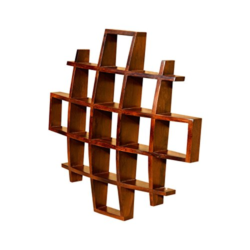 Wood Dekor Sun Shaped Wall Rack - Honey Finish
