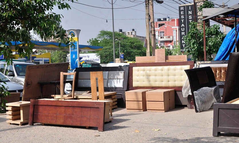 Furniture market in Kirti Nagar delhi