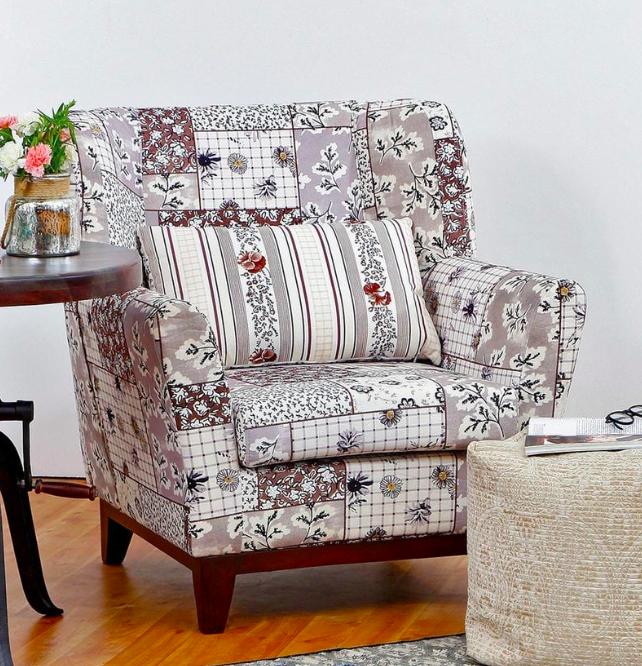 Colette Accent Chair in Brown Colour Pepperfry - Furniture20
