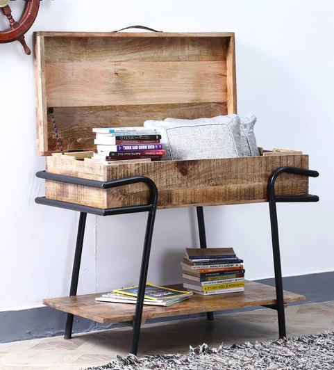 Kirov Console Table in Rustic Finish by Bohemiana Furniture20