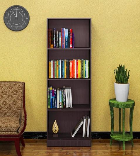 Morie Book Shelf in Light Cappuccino Finish - Furniture20