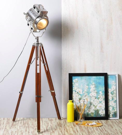 Brown Brass Tripod Lamp by Ethnic Roots - Pepperfry | Furniture20