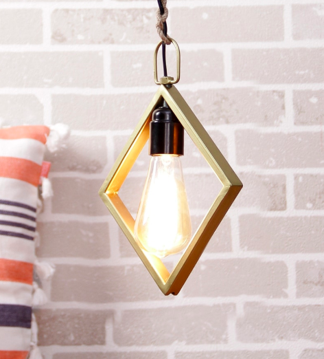 Gold Metal Filament Lamp by Grated Ginger, Pepperfry - Furniture20