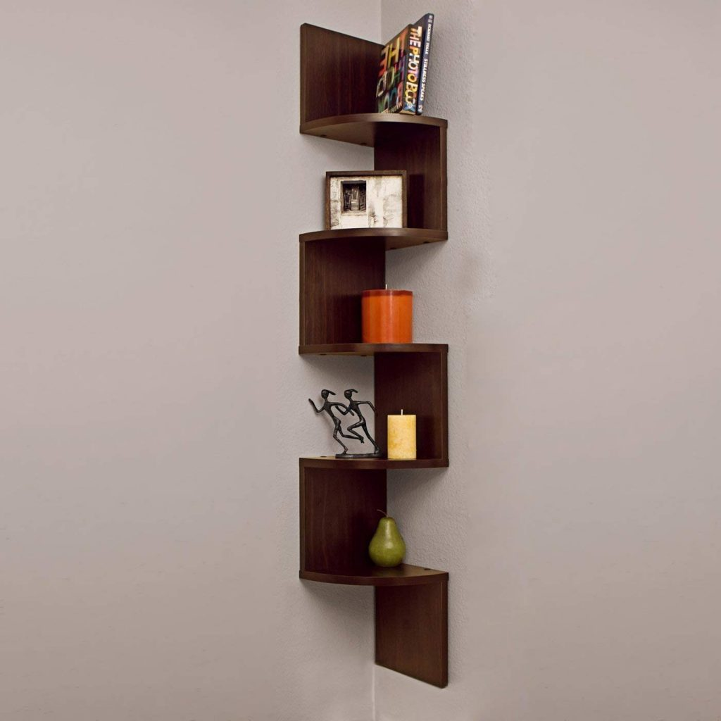 Zigzag Shape Rack Wooden Wall Shelf Furniture20 Amazon
