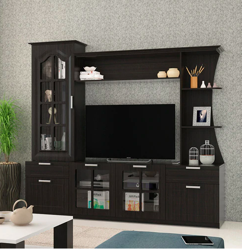 Wall TV Unit in Natural Wenge
