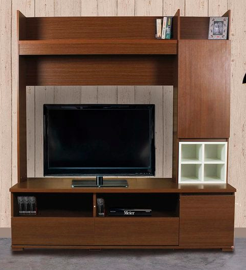 TV Unit In Americano White Finish Furniture20