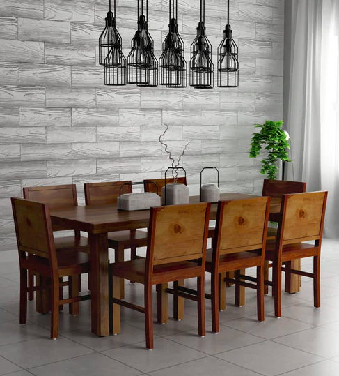 5. Acropolis Solid Wood Eight Seater Dining Set