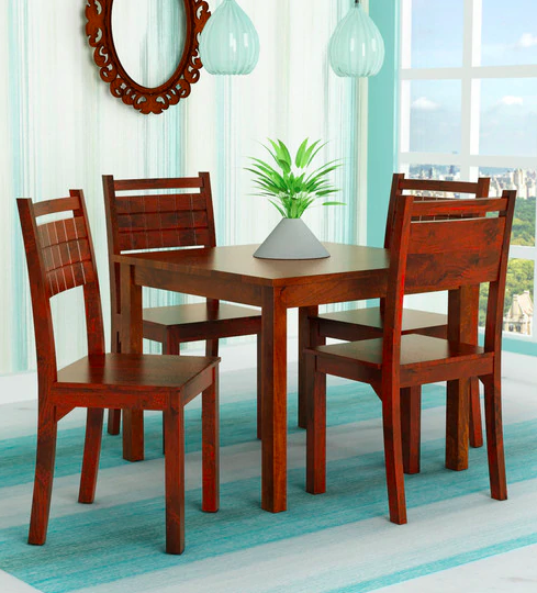 Trelis Four Seater Dining Set in Honey Color By HomeTown