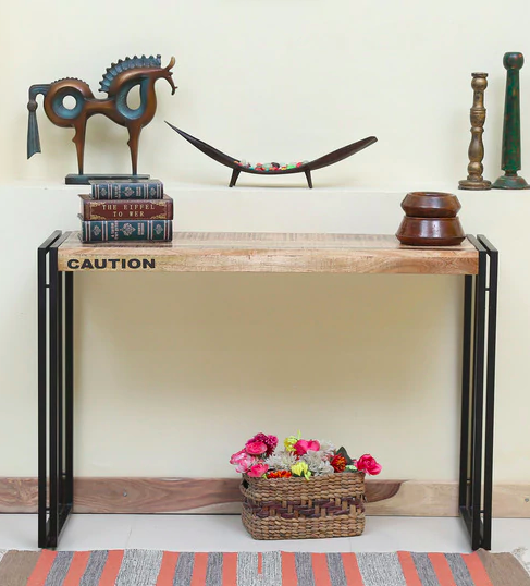 Coleman Solid Wood Console Table by Bohemiana