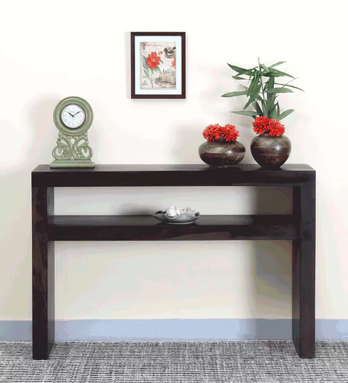 Acropolis Solid Wood Console Table in Warm Chestnut Finish by Woodsworth