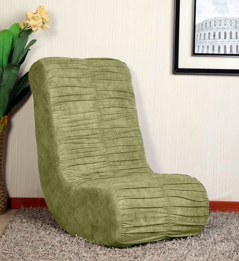 Daisy Rocking Chair in Green Colour by Parin