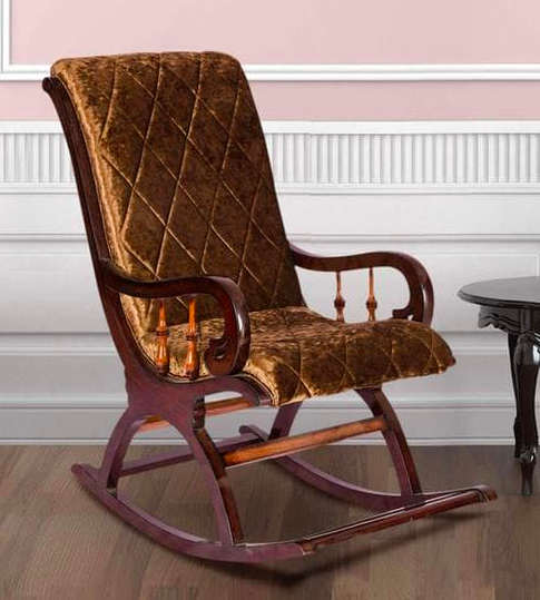 Rocking Chair in Dark Brown Colour by Karigar