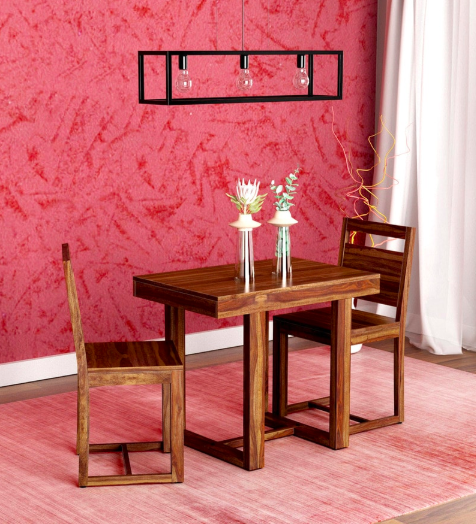 Avian Solid Wood Two Seater Dining Set in Provincial Teak Finish by Woodsworth