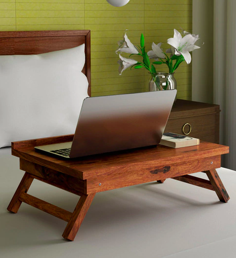 Neon Laptop Stand in Natural Honey Finish by Royal Oak