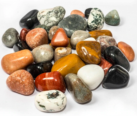 Multicolour Stone Natural Polished Pebbles by Stone And Beyond