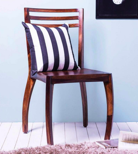 Dvina Dining Chair in Provincial Teak Finish on Rent