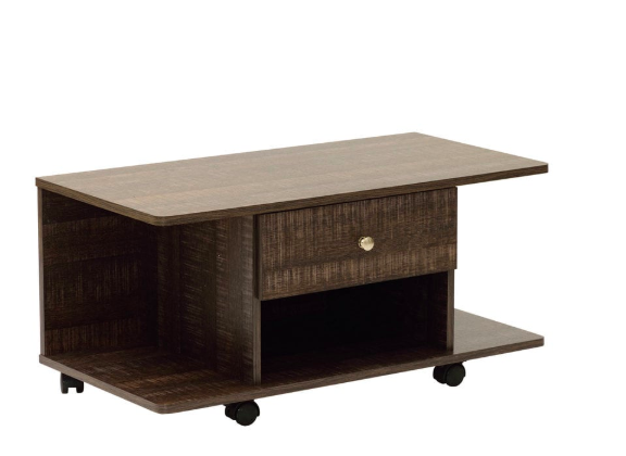 Akira Entertainment Unit with One Drawer in Wenge Finish on Rent