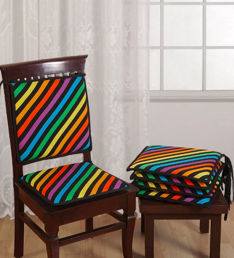 16 X 16 Inches set of 6 Chair Pads by Swayam