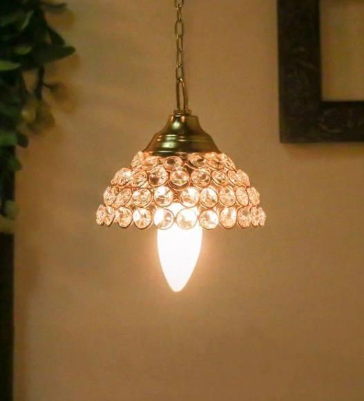 Gold-Crystal-Single-Hanging-Lights