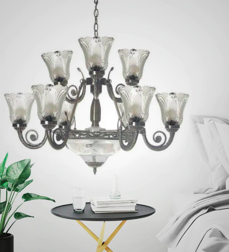 antique-white-glass-chandelier