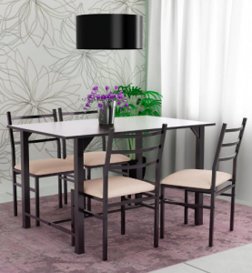 caint-metallic-four-seater-dinning-set-with-wooden-top-by-furniturekraft