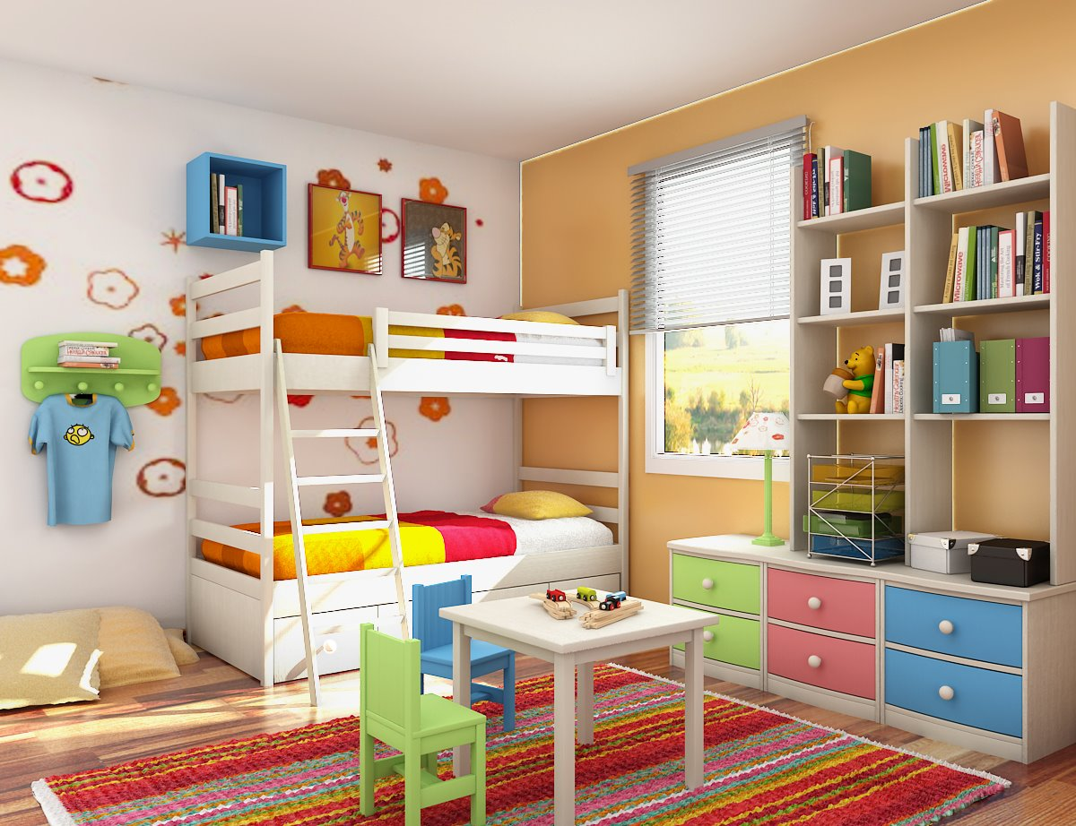 5 Easy Steps To Design A Perfect Bedroom For Your Kids!